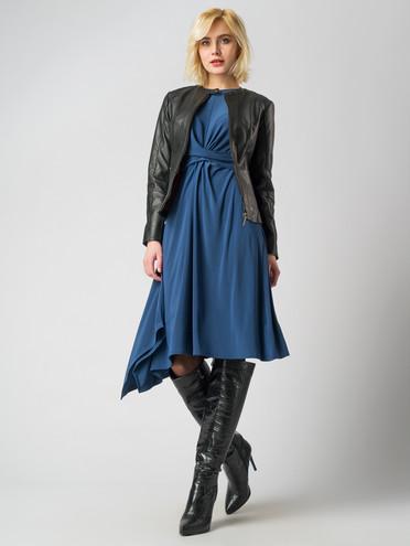 Кожаная куртка кожа , цвет черный, арт. 18005483  - цена 11290 руб.  - магазин TOTOGROUP