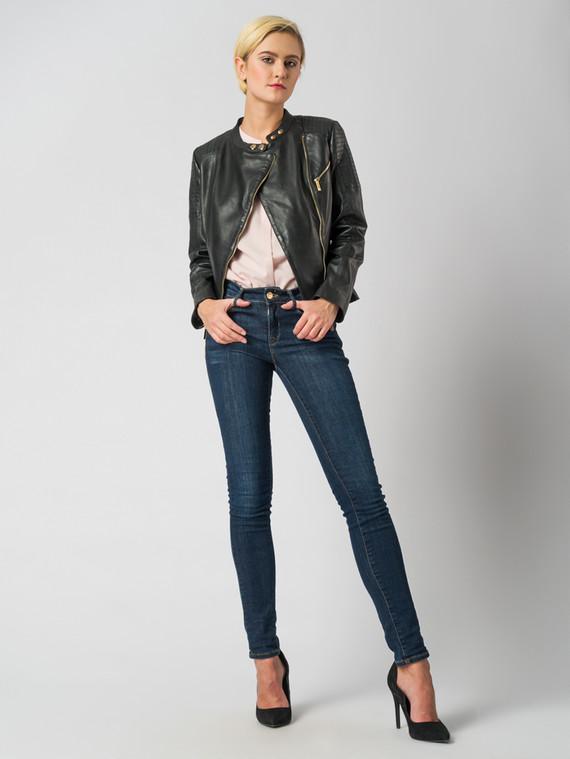 Кожаная куртка кожа , цвет черный, арт. 18005484  - цена 6990 руб.  - магазин TOTOGROUP