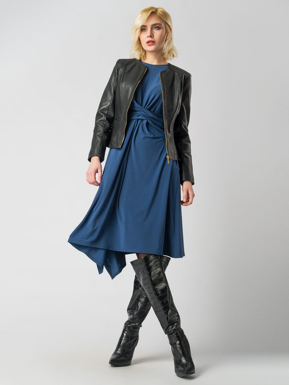 Кожаная куртка кожа , цвет черный, арт. 18005492  - цена 11290 руб.  - магазин TOTOGROUP