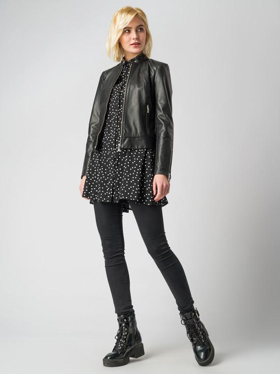 Кожаная куртка кожа , цвет черный, арт. 18005494  - цена 9990 руб.  - магазин TOTOGROUP