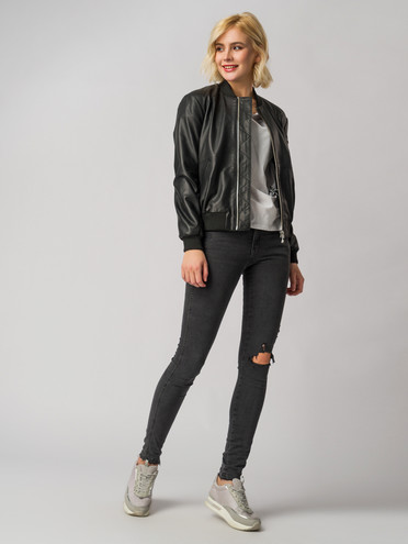 Кожаная куртка кожа , цвет черный, арт. 18005496  - цена 7490 руб.  - магазин TOTOGROUP