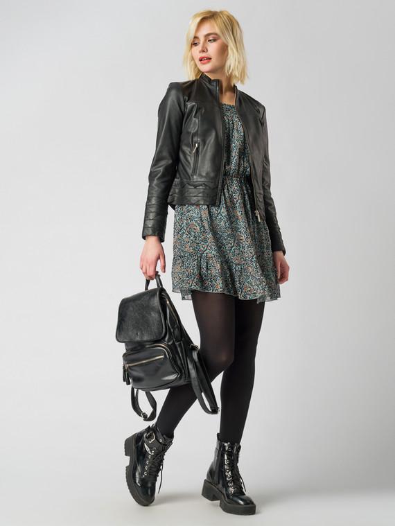 Кожаная куртка кожа , цвет черный, арт. 18005500  - цена 9990 руб.  - магазин TOTOGROUP