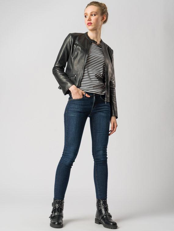 Кожаная куртка кожа , цвет черный, арт. 18005501  - цена 9490 руб.  - магазин TOTOGROUP