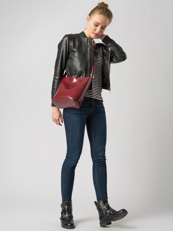 Кожаная куртка кожа , цвет черный, арт. 18005503  - цена 9490 руб.  - магазин TOTOGROUP