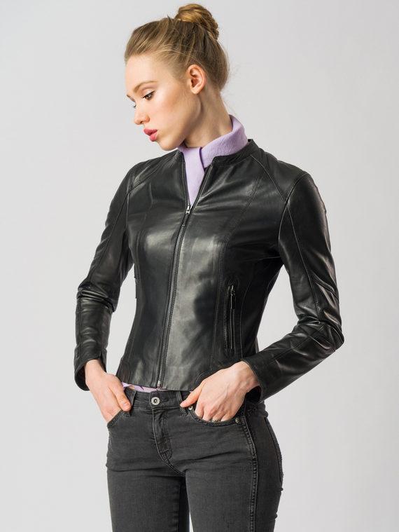 Кожаная куртка кожа , цвет черный, арт. 18005504  - цена 10590 руб.  - магазин TOTOGROUP