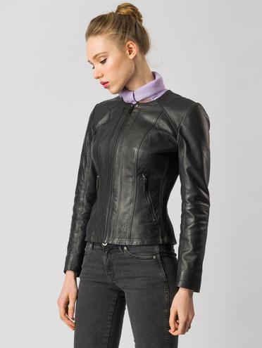 Кожаная куртка кожа , цвет черный, арт. 18005505  - цена 8990 руб.  - магазин TOTOGROUP