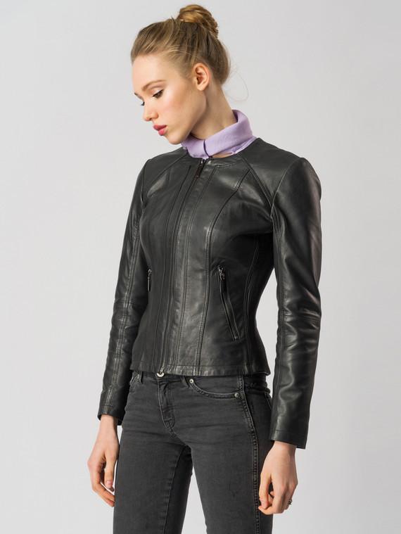 Кожаная куртка кожа , цвет черный, арт. 18005505  - цена 9990 руб.  - магазин TOTOGROUP