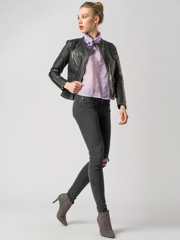 Кожаная куртка кожа , цвет черный, арт. 18005506  - цена 7990 руб.  - магазин TOTOGROUP