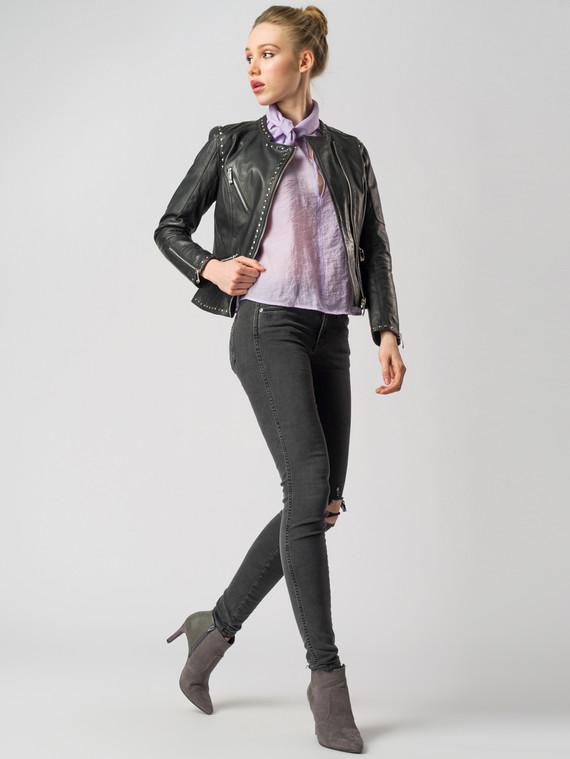 Кожаная куртка кожа , цвет черный, арт. 18005506  - цена 8490 руб.  - магазин TOTOGROUP