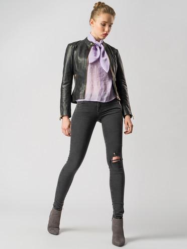 Кожаная куртка кожа , цвет черный, арт. 18005507  - цена 8990 руб.  - магазин TOTOGROUP