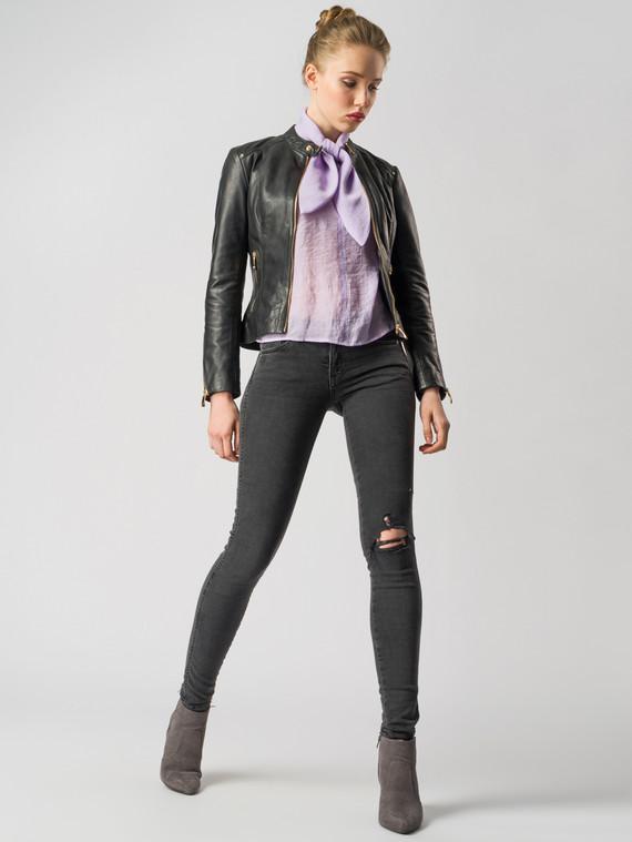 Кожаная куртка кожа , цвет черный, арт. 18005507  - цена 10590 руб.  - магазин TOTOGROUP