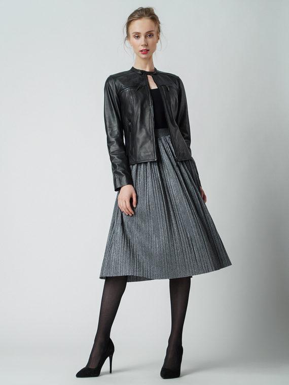 Кожаная куртка кожа , цвет черный, арт. 18005512  - цена 12690 руб.  - магазин TOTOGROUP