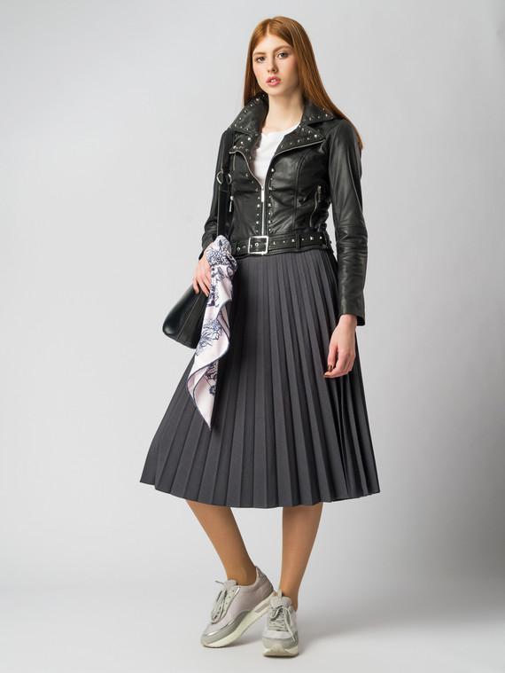 Кожаная куртка кожа коза, цвет черный, арт. 18005515  - цена 7990 руб.  - магазин TOTOGROUP
