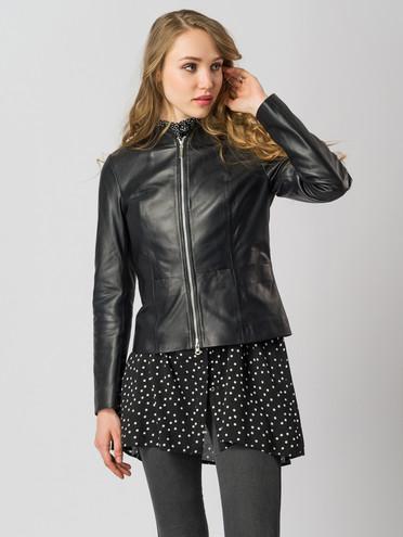 Кожаная куртка кожа , цвет черный, арт. 18005517  - цена 11990 руб.  - магазин TOTOGROUP