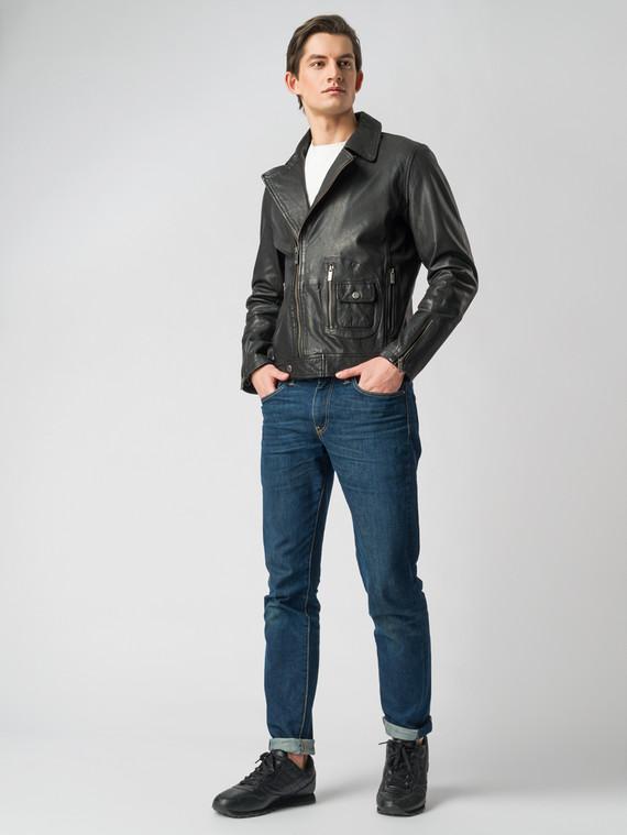 Кожаная куртка кожа коза, цвет черный, арт. 18005522  - цена 8490 руб.  - магазин TOTOGROUP
