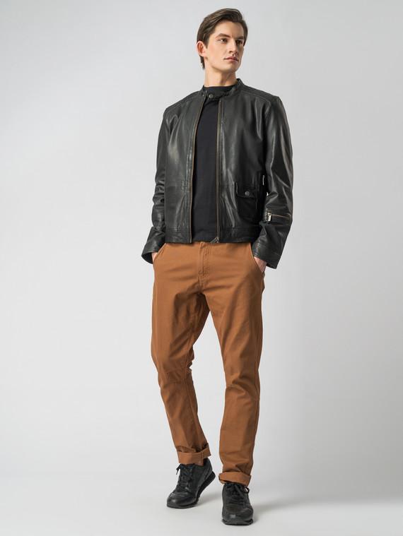Кожаная куртка кожа коза, цвет черный, арт. 18005523  - цена 8490 руб.  - магазин TOTOGROUP