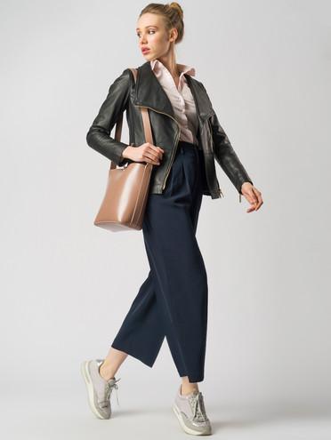 Кожаная куртка кожа , цвет черный, арт. 18005527  - цена 11290 руб.  - магазин TOTOGROUP
