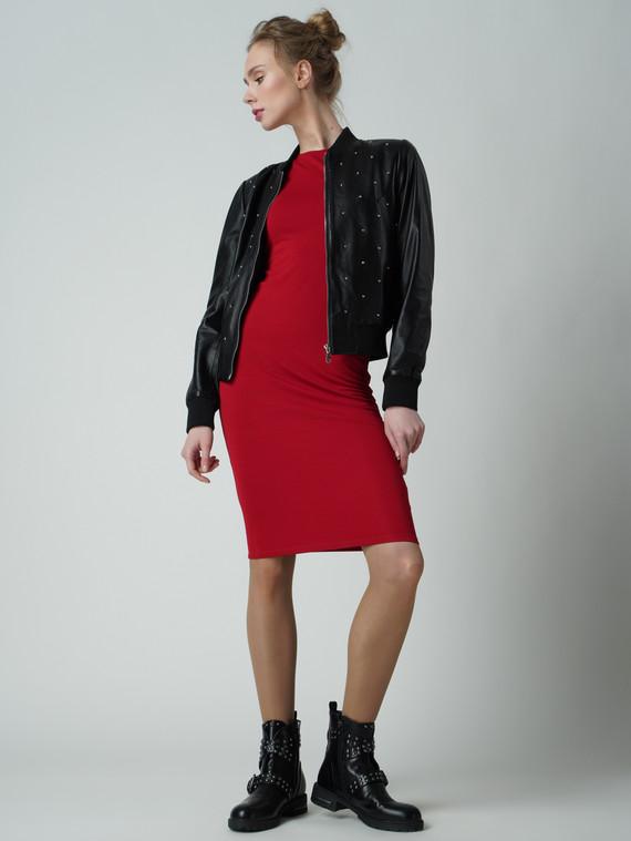 Кожаная куртка кожа , цвет черный, арт. 18005529  - цена 6990 руб.  - магазин TOTOGROUP