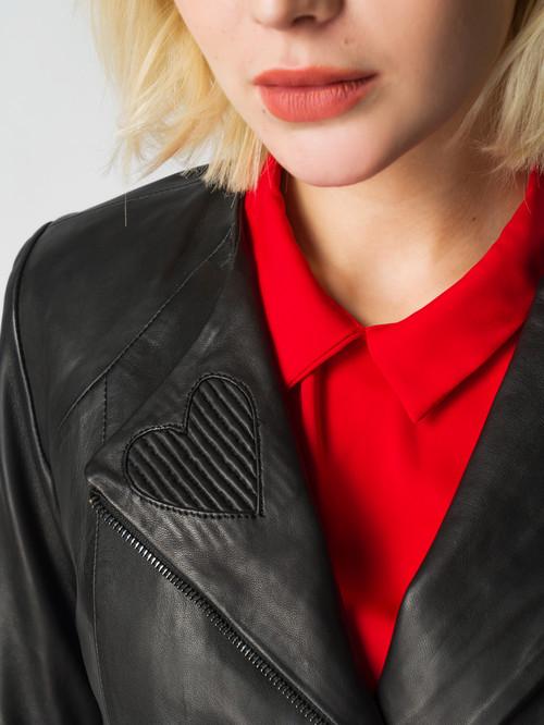 Кожаная куртка артикул 18005542/40 - фото 4