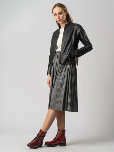 Кожаная куртка кожа , цвет черный, арт. 18005543  - цена 9490 руб.  - магазин TOTOGROUP