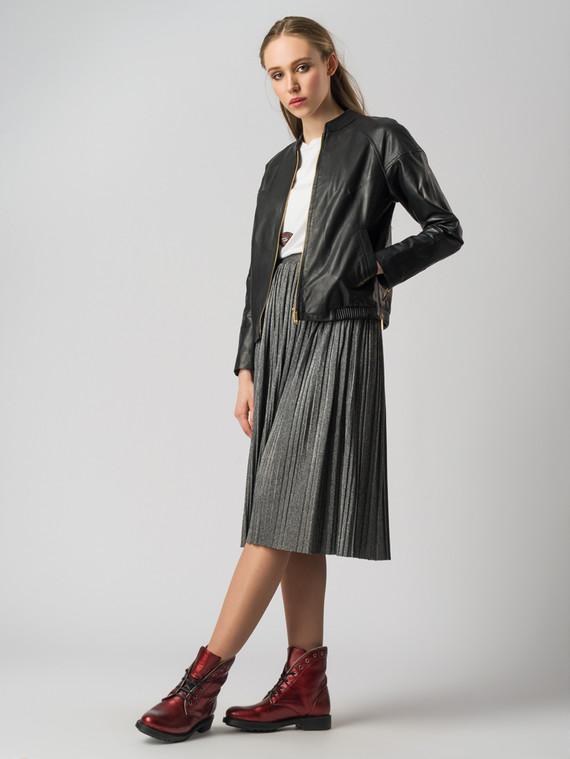 Кожаная куртка кожа , цвет черный, арт. 18005543  - цена 7490 руб.  - магазин TOTOGROUP