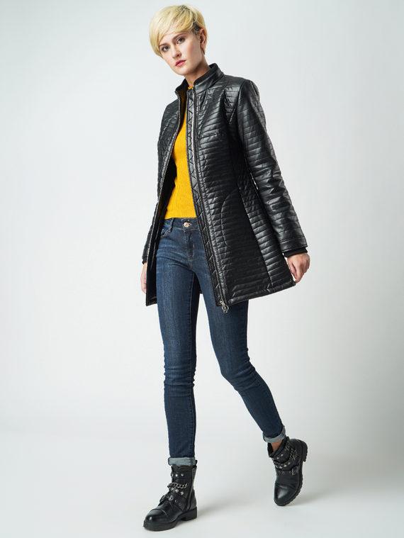 Кожаная куртка эко кожа 100% П/А, цвет черный, арт. 18005565  - цена 4990 руб.  - магазин TOTOGROUP