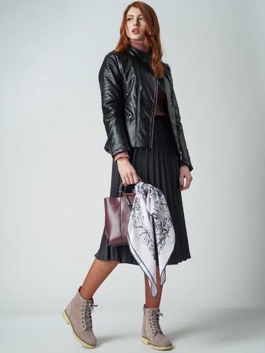 Кожаная куртка эко-кожа 100% П/А, цвет черный, арт. 18005566  - цена 3990 руб.  - магазин TOTOGROUP
