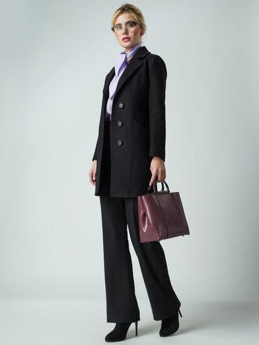 Текстильное пальто 30%шерсть, 70% п.э, цвет черный, арт. 18005634  - цена 6290 руб.  - магазин TOTOGROUP