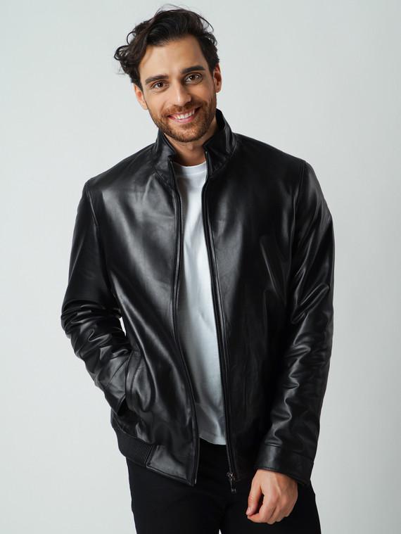 Кожаная куртка кожа , цвет черный, арт. 18005766  - цена 9490 руб.  - магазин TOTOGROUP