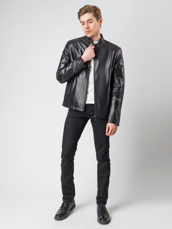 Кожаная куртка кожа , цвет черный, арт. 18005767  - цена 9490 руб.  - магазин TOTOGROUP