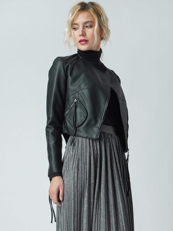 Кожаная куртка эко кожа 100% П/А, цвет черный, арт. 18005781  - цена 3990 руб.  - магазин TOTOGROUP