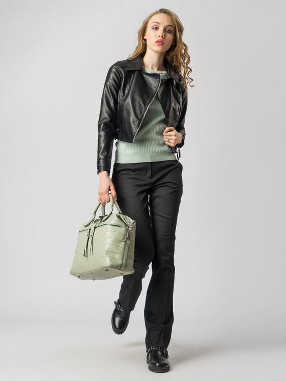 Кожаная куртка эко кожа 100% П/А, цвет черный, арт. 18005783  - цена 3390 руб.  - магазин TOTOGROUP