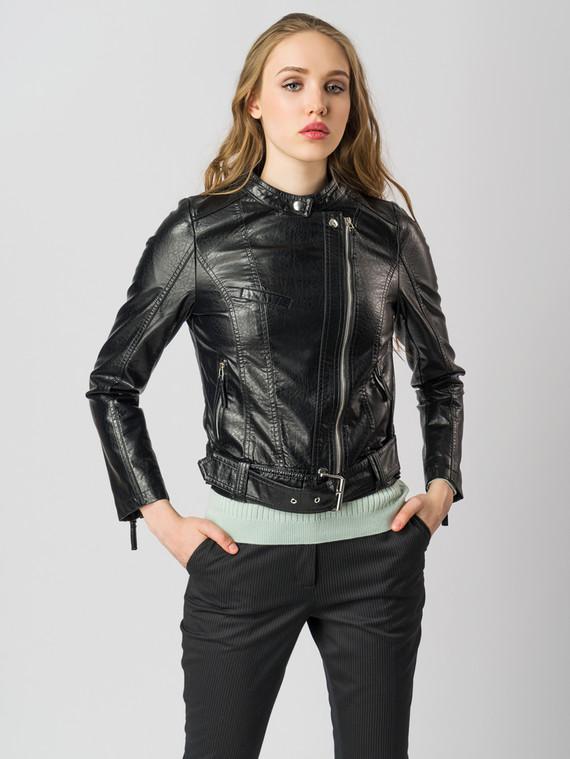 Кожаная куртка эко кожа 100% П/А, цвет черный, арт. 18005786  - цена 3390 руб.  - магазин TOTOGROUP