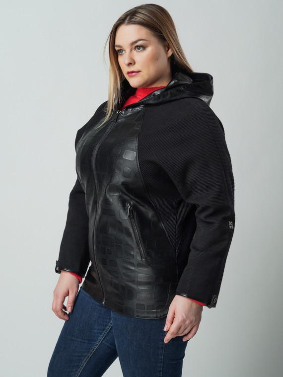 Кожаная куртка эко кожа 100% П/А, цвет черный, арт. 18005791  - цена 7490 руб.  - магазин TOTOGROUP