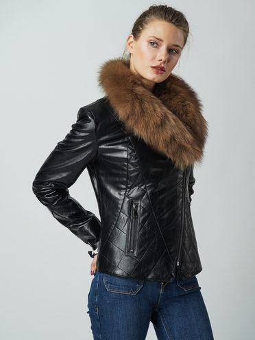 Кожаная куртка эко кожа 100% П/А, цвет черный, арт. 18005800  - цена 13390 руб.  - магазин TOTOGROUP