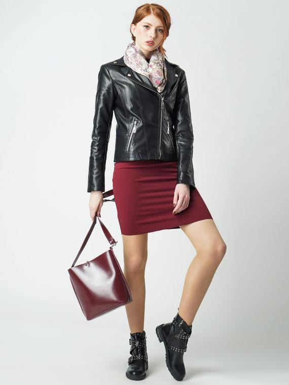 Кожаная куртка эко кожа 100% П/А, цвет черный, арт. 18005819  - цена 4490 руб.  - магазин TOTOGROUP