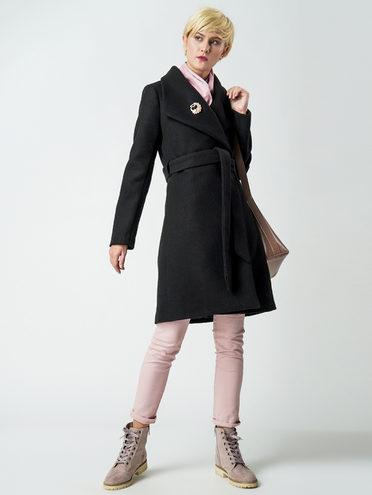 Текстильное пальто 30%шерсть, 70% п\а, цвет черный, арт. 18005825  - цена 6290 руб.  - магазин TOTOGROUP