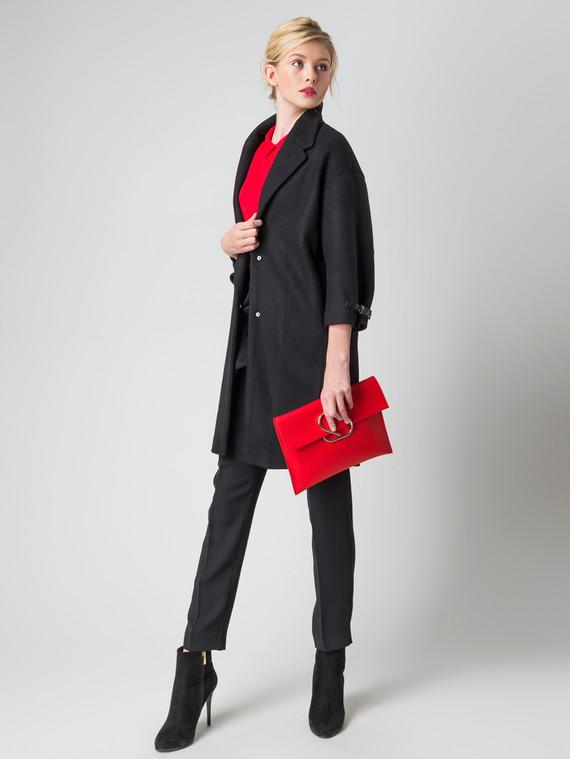 Текстильное пальто 30%шерсть, 70% п\а, цвет черный, арт. 18005835  - цена 4260 руб.  - магазин TOTOGROUP