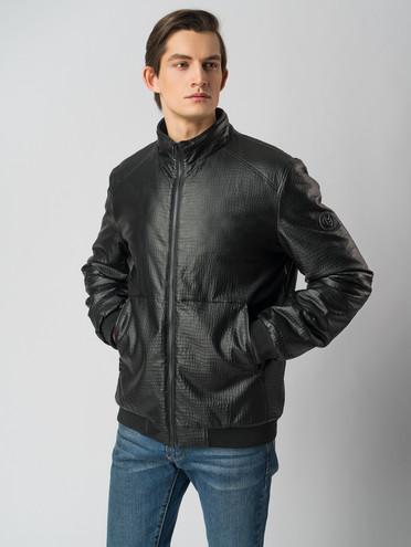 Кожаная куртка эко-кожа 100% П/А, цвет черный, арт. 18005839  - цена 2690 руб.  - магазин TOTOGROUP