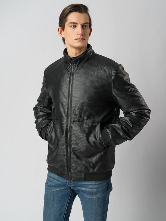 Кожаная куртка эко-кожа 100% П/А, цвет черный, арт. 18005839  - цена 3990 руб.  - магазин TOTOGROUP