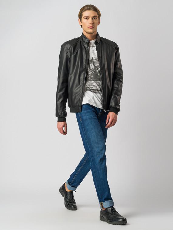 Кожаная куртка эко-кожа 100% П/А, цвет черный, арт. 18005842  - цена 3790 руб.  - магазин TOTOGROUP