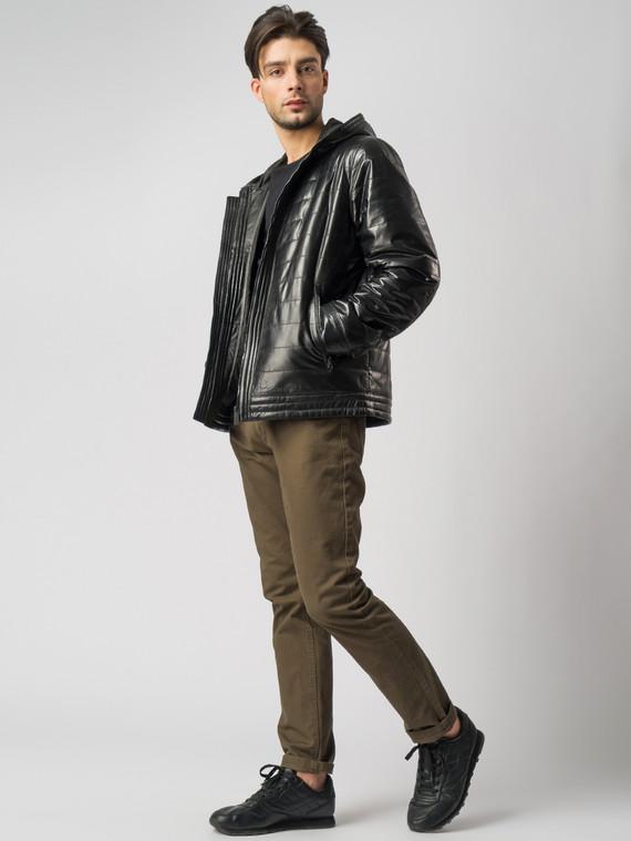 Кожаная куртка кожа , цвет черный, арт. 18005848  - цена 12690 руб.  - магазин TOTOGROUP