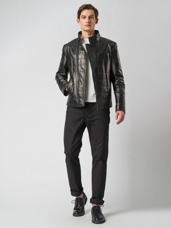 Кожаная куртка кожа , цвет черный, арт. 18005850  - цена 13390 руб.  - магазин TOTOGROUP