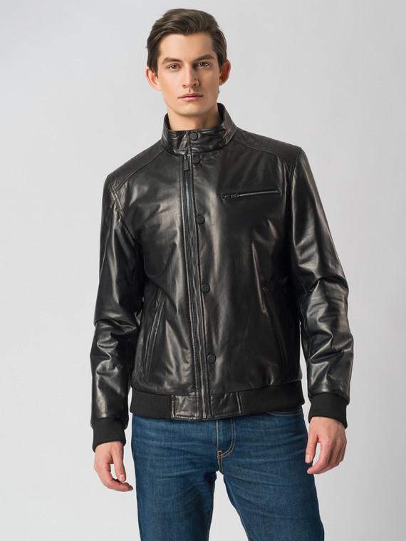 Кожаная куртка кожа , цвет черный, арт. 18005851  - цена 9990 руб.  - магазин TOTOGROUP