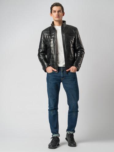 Кожаная куртка кожа , цвет черный, арт. 18005852  - цена 14990 руб.  - магазин TOTOGROUP