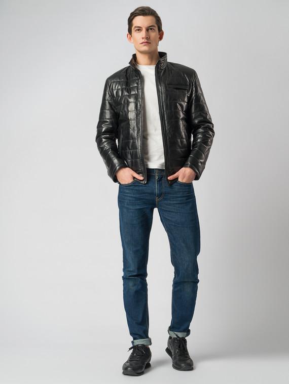 Кожаная куртка кожа , цвет черный, арт. 18005852  - цена 12690 руб.  - магазин TOTOGROUP