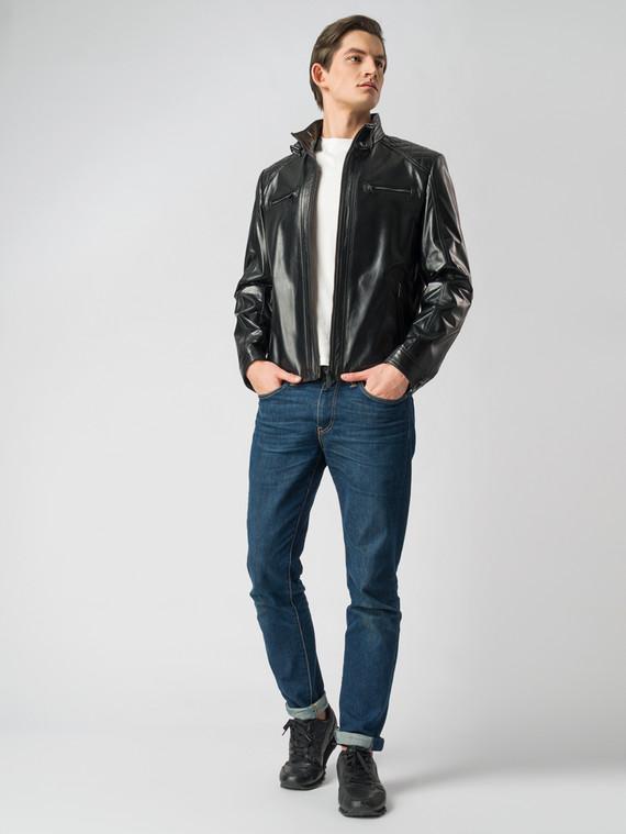 Кожаная куртка кожа , цвет черный, арт. 18005853  - цена 13390 руб.  - магазин TOTOGROUP