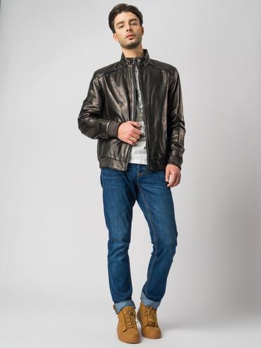 Кожаная куртка кожа , цвет черный, арт. 18005854  - цена 11990 руб.  - магазин TOTOGROUP