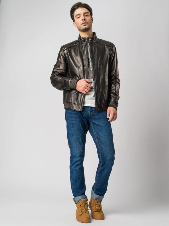Кожаная куртка кожа , цвет черный, арт. 18005854  - цена 8490 руб.  - магазин TOTOGROUP