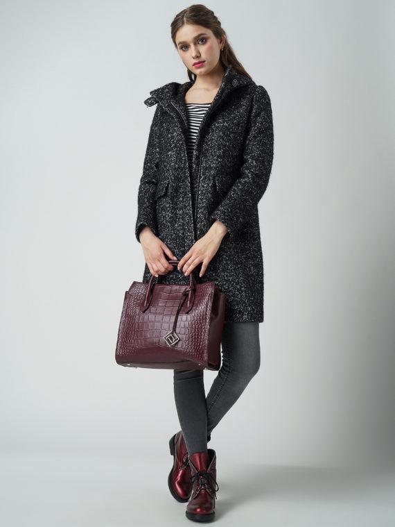Текстильное пальто 30%шерсть, 70% п\а, цвет черный, арт. 18005855  - цена 4490 руб.  - магазин TOTOGROUP
